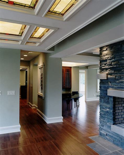 Stained Coffered Ceiling 36 Best Wright Prairie Craftsman Mission Style Images
