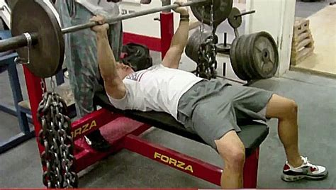 chain bench press bench press using the conjugate method