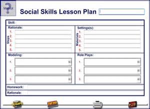 social skills lesson plan template kidtools missouri edu see tool