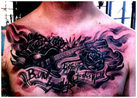 guitar pick tattoo designs black guitar designs for on chest guitar