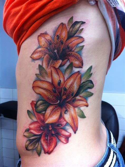 tiger lily flower tattoo designs great pictures tattooimages biz