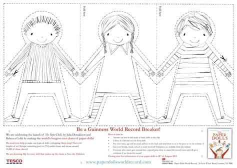 printable paper doll chain paper doll chain template julia donaldson paper dolls