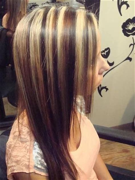 chunky blonde top dark under 39 best images about hair color with highlights lowlights