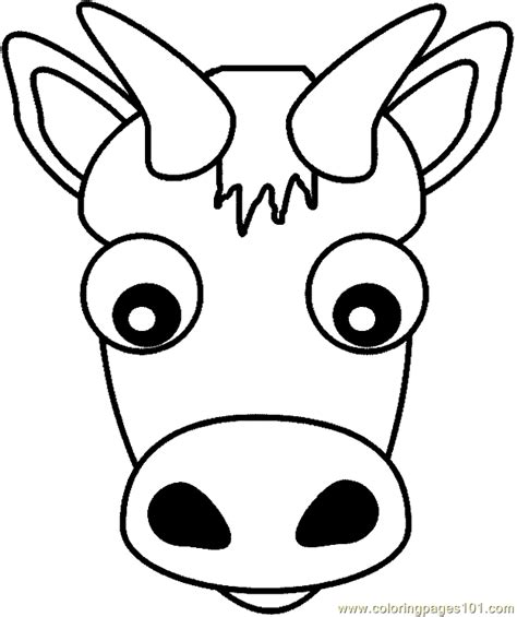 printable animal heads coloring pages cow head animals gt cow free printable