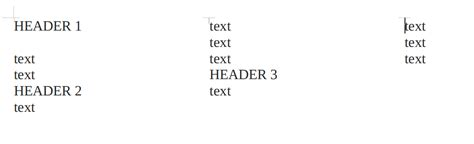 java layout text java how to skip text insertion point to the next column
