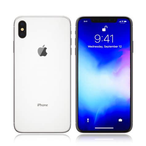 apple iphone white 3d model turbosquid 1320759