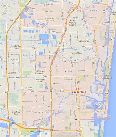 fort map fort lauderdale florida map