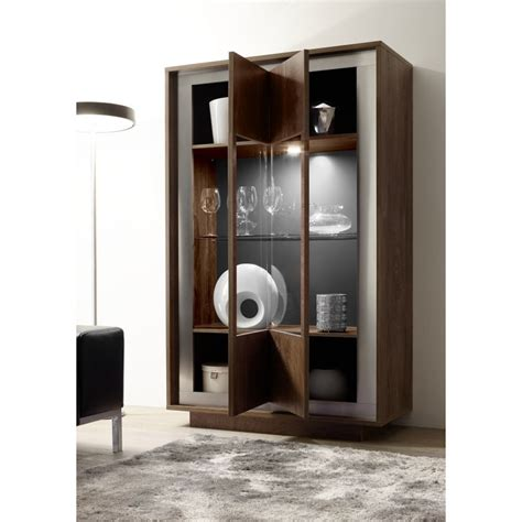 modern display cabinet amber modern display cabinet in oak cognac finish with