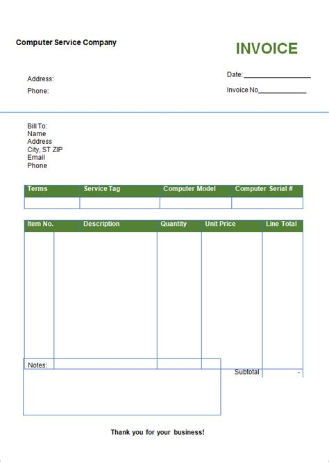 blank invoice template microsoft word search results