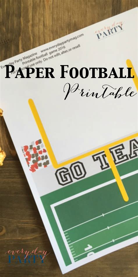How To Fold Paper Football - paper football printable everyday magazine