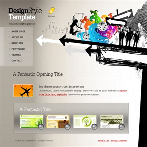 target webpage template 6103 creative design