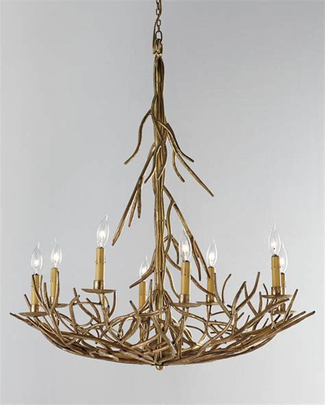 Horchow Chandeliers Eight Light Iron Twig Chandelier Chandeliers By Horchow