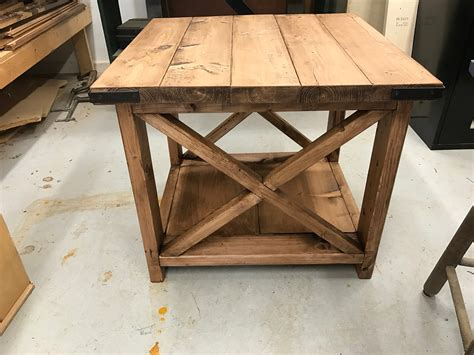 diy rustic end tables white rustic x end table diy projects