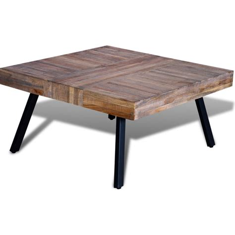 Reclaimed Wood Square Coffee Table by Reclaimed Teak Wood Square Coffee Table 80cm Buy Coffee