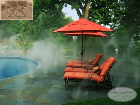 pool patio fog mist system traditional pool