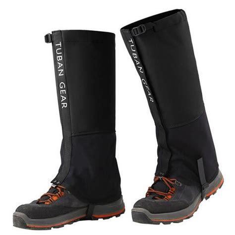 Cover Sepatu 1 tuban gear cover betis kaki sepatu ski hiking climbing size xl black jakartanotebook