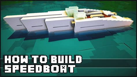 how to make a speed boat in minecraft pe minecraft how to make speedboat doovi