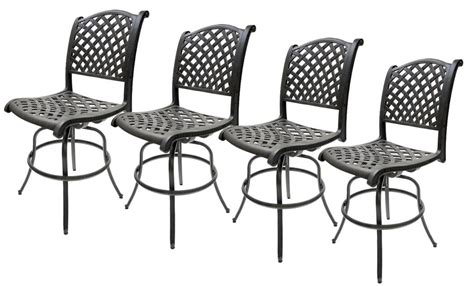 Outdoor Bar Stools Las Vegas by Outdoor Swivel Bar Stools Set Of 4 Las Vegas Patio