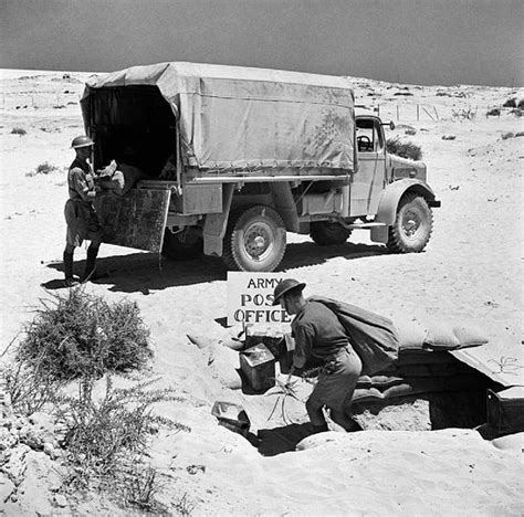 Army Post Office by File Mail Being Unloaded From An Army Post Office Lorry In
