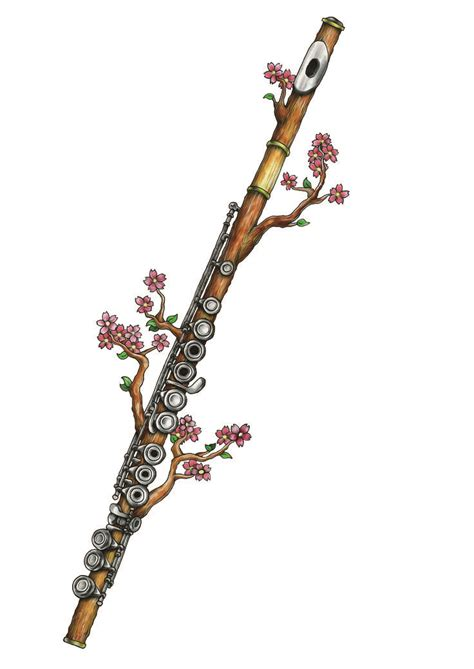 flute tattoo designs best 25 flute ideas on musica band