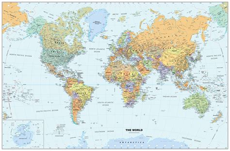 wall maps classic world wall map