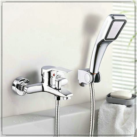 bathtub faucet with handheld shower diverter wall mounted bathroom faucet with diverter bath tub mixer tap with hand shower head
