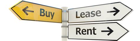 how to buy rental products should i rent lease or purchase equipment for my business
