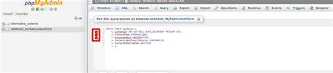mysql create table syntax phpmyadmin mysql create table error syntax stack overflow