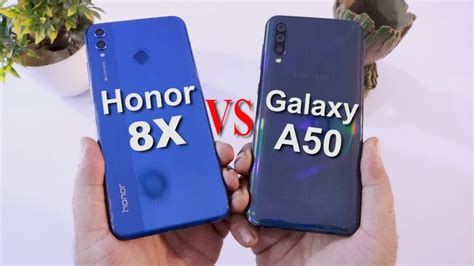 Samsung Galaxy A50 Vs Honor 8x by Samsung A50 Vs Honor 8x Comparison Speed Test Which One Is Better To Buy