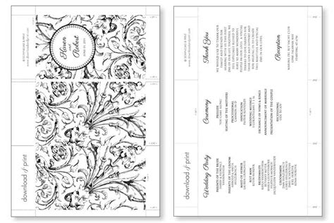 wedding program cards template 8 best images of wedding program template free printable