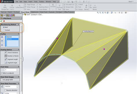 solidworks flat pattern bend notes solidworks 2014 bent lofted bends video