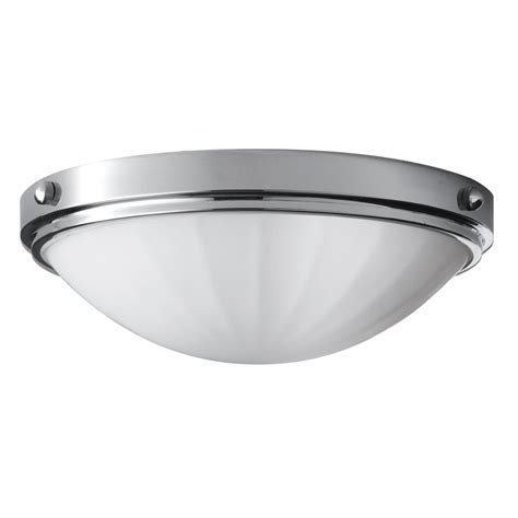 Classic Flush Bathroom Ceiling Light In Polished Chrome W Classic Ceiling Lights