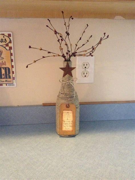 diy prim crafts on diy primitive hemp wrapped wine bottle wine bottle