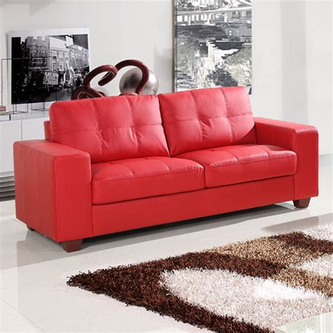 leather sofa red strada vibrant red leather sofa collection