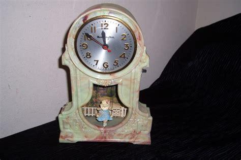swinging clock mastercrafters vintage motion clock swinging girl other