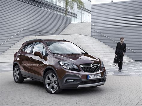 opel mokka 2016 opel vauxhall mokka facelift rendered might look a