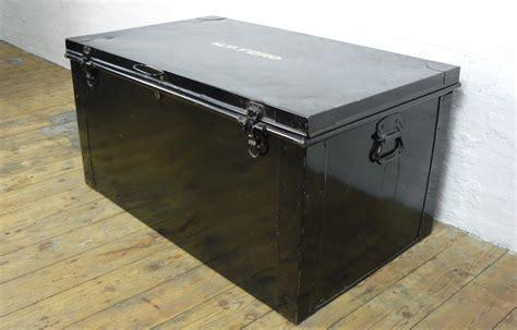 heavy duty black vintage metal trunk    london