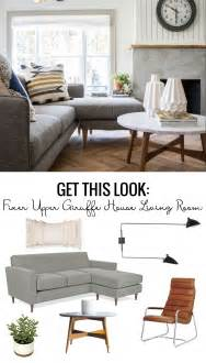 get on fixer remodelaholic get this look fixer upper giraffe house living room
