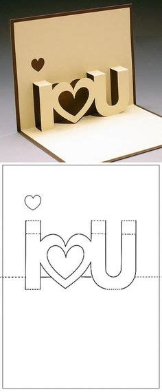3d I You Pop Up Card Template by 1000 Ideas About Pop Up Cards On Pop Up