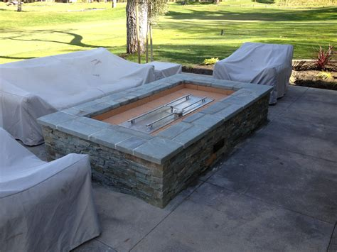 diy gas fire pit burner fireplace design ideas