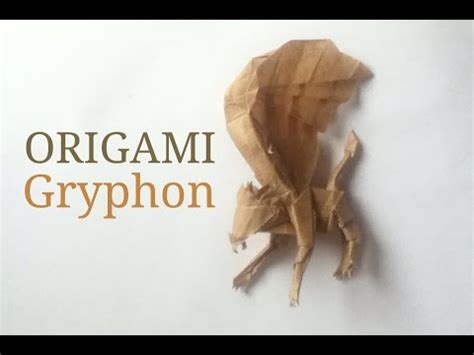 origami griffin tutorial how to fold origami fiery dragon 摺紙噴火飛龍教學 kade chan doovi