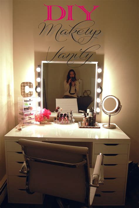 Diy Vanity Lights Diy Makeup Vanity Made2style