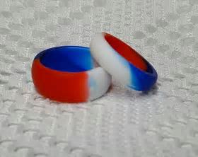 27 best Silicone Wedding Sport Band Ring Mixed Colors