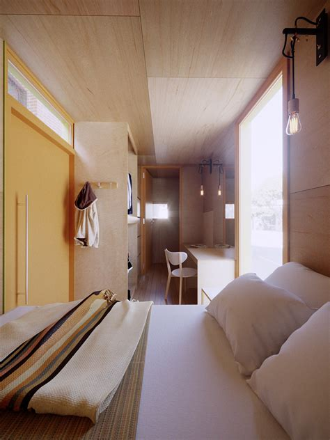 field of vision shipping container housing interior a04