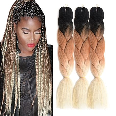 ombre micro braiding hair ombre jumbo braid hair extensions high temperature