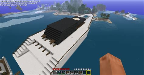 big boat in minecraft big boat yacht minecraft project