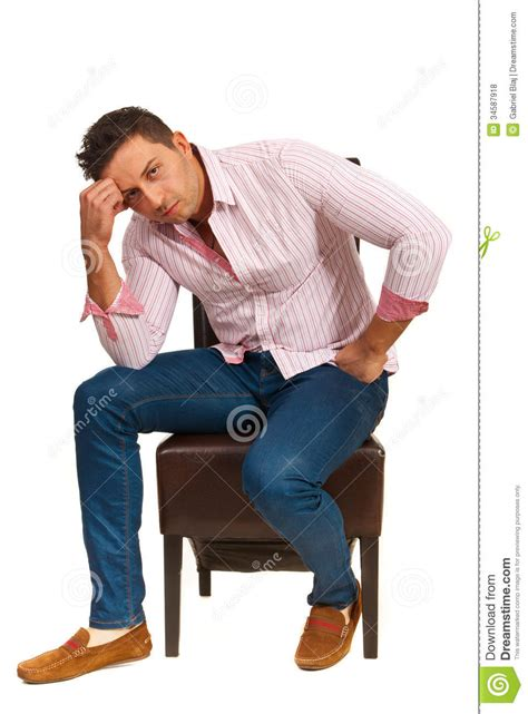 Casual Sitting Chairs Sad Casual Royalty Free Stock Photos Image 34587918