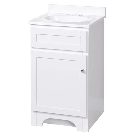 columbia white 18in vanity combo with top