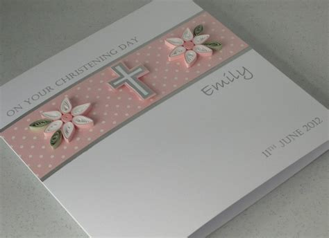 Handmade Certificates - items similar to handmade christening card personalized