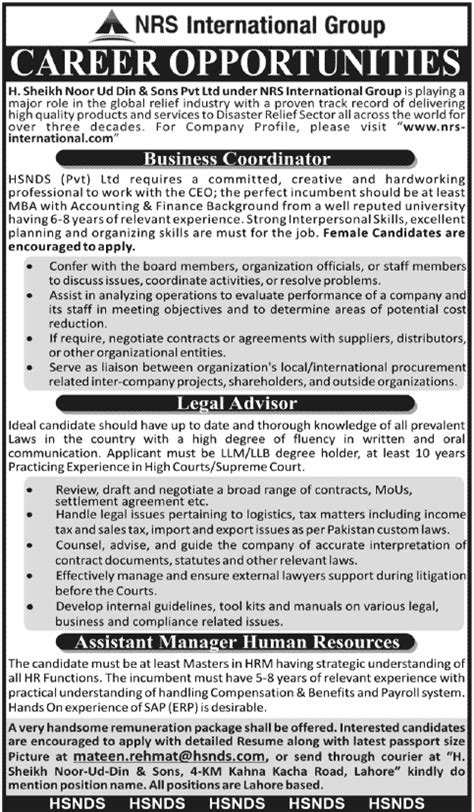nnpc group recruitment 2012 jobs and vacancies in hsnds pvt ltd nrs international group jobs 2012 in